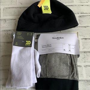 Winter Essentials: Beanie, Socks, Thermal Pants